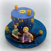 Rapunzel Lantern Scene Cake (Day)