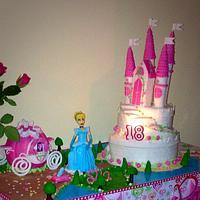 Princess cindrella theme cake