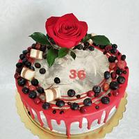 Red chocolate cake