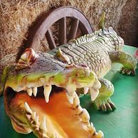 crocodile cake.