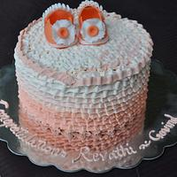 ultra cute baby shower cake
