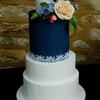 Wedding cake in dark blue