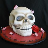 SKULL CAKE by Paul Delaney of Delaneys cakes