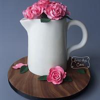 Jug of Roses Cake
