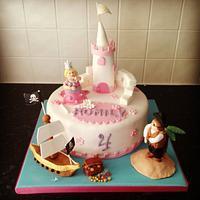 Pirates and Princesses birthday cake