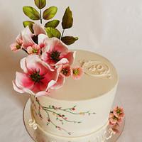 Beige with magnolias