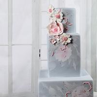 "Wedding cake ""Rose Quartz & Serenity"""