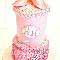Very Pink and Tall Ballet cake