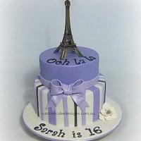 Eiffel Themed Cake
