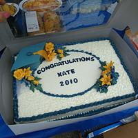 Blue and Gold graduation cake