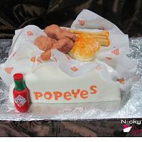 Popeyes Chicken by NickySignatureCakes