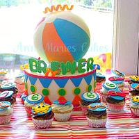 Beachball cake
