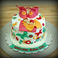 Baby Shower Cake by Yusy Sriwindawati