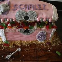 My 1st Treasure Chest cake!!