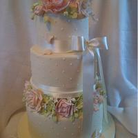 Springtime Wedding Cake.