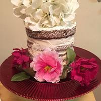 Naked Floral cake