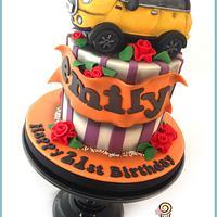 Yellow Mini Car Cake