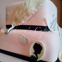 Pride & Prejudice 21st cake by Cherry's Cupcakes