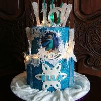 'Frozen' Cake, Lighted