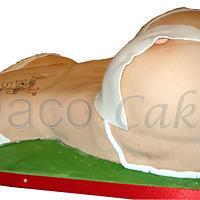 Female Torso/Bikini Cake by Roberta