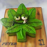 Marijuana Leaf cake by Jenny Dowd