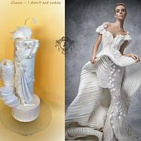 "Couture Cakers International 2018 : ""White Swan cake"""
