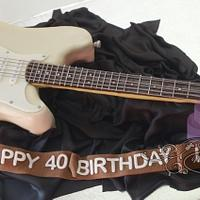 Fender Stratocaster Electric Guitar Cake