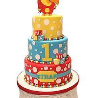 VocabuLarry First Birthday Cake