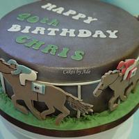 Horse racing cake - January 2011