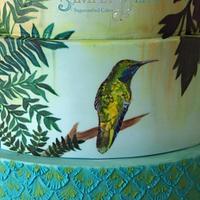 Hummingbirds Cake for Cake International 2014 - Gold award by Alpa Boll - Simply Alpa