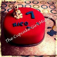 Fireman Dalmation Cake