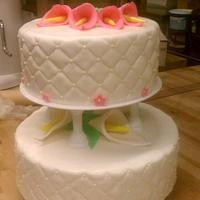 2-Tier Wedding Cake - Cala Lilies by Aryelle Dall