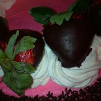 strawberry-chocolate cream cheese cake