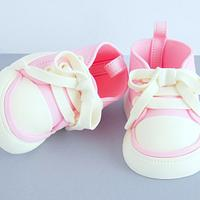 Baby Girl Shoes Cake Topper