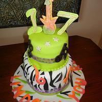 """Rocker"" Birthday cake"