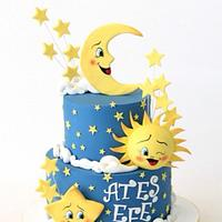 Moon, Sun and Star Cake
