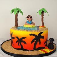 Arizona/Palm Trees Birthday Cake