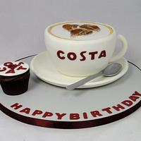 Costa Coffee Cup Novelty Cake