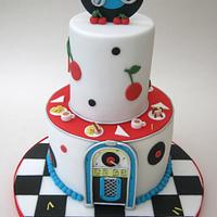 Retro Diner Themed 30th Birthday Cake!