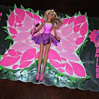Barbie Butterfly Cake