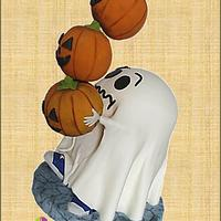 Ghost and Falling Pumpkins