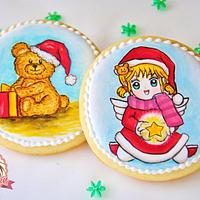 Handpainted Christmas Cookies