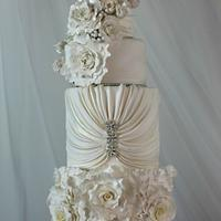 Pure White Wedding Cake  - Cake Central V.5 is 3
