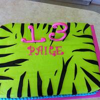 Zebra Cake--Inside cake is zebra as well