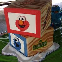 Wooden block cake by Dat Cake Place