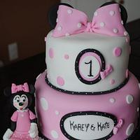 Minnie Mouse Two Tier