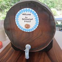 Oktoberfest Barrel Cake