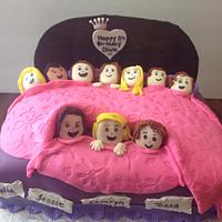 Sleep over cake