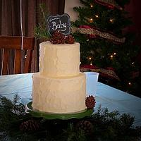 Plain Jane Baby Shower Cake