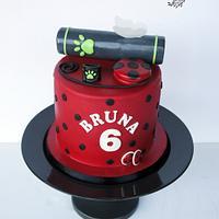 Labybug and Cat Noir cake